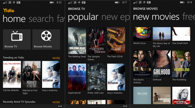 Yidio For Windows Phone Helps You Find Favorite TV Shows ...