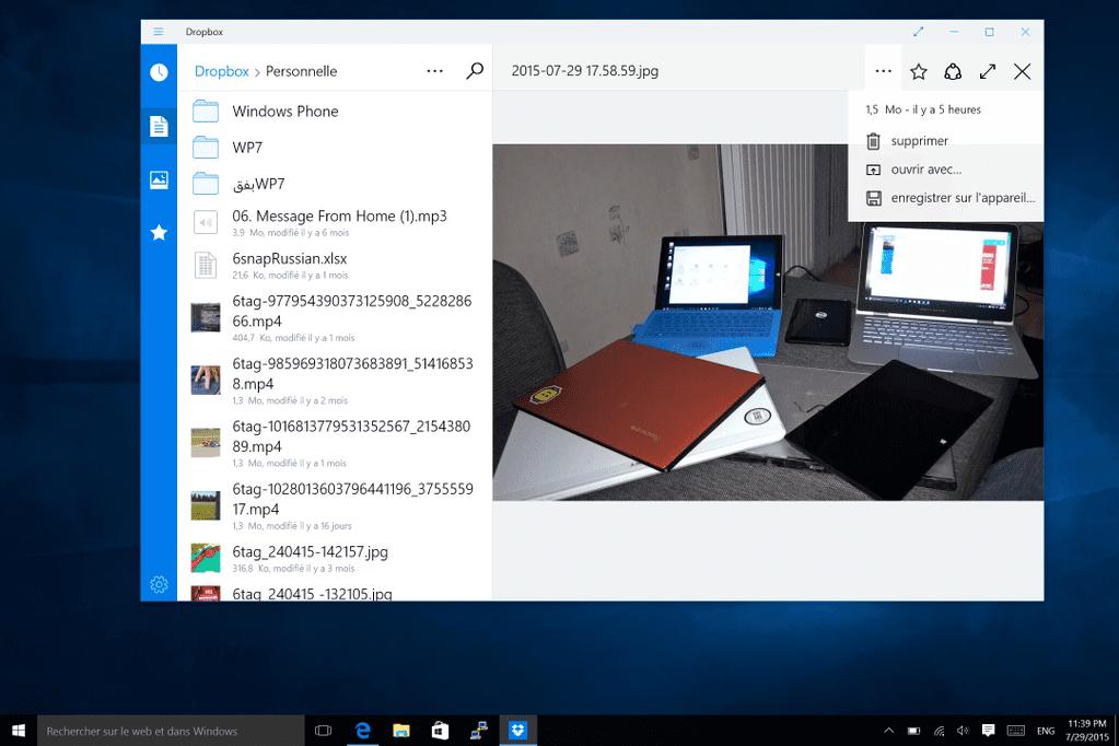 Dropbox Windows Store