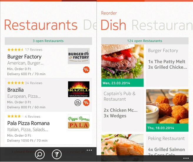 Foodpanda food delivery app updated with facebook login support and foodpanda windows phone app forumfinder Gallery