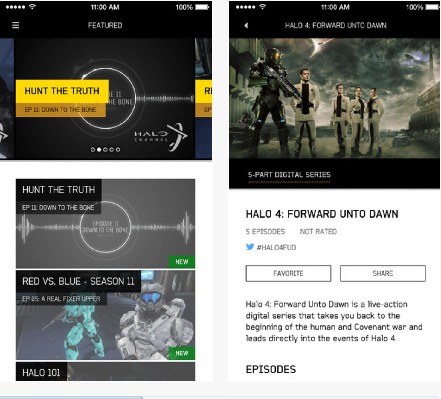 Halo Channel iOS Android App