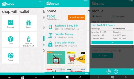 Mobikwik Windows Phone