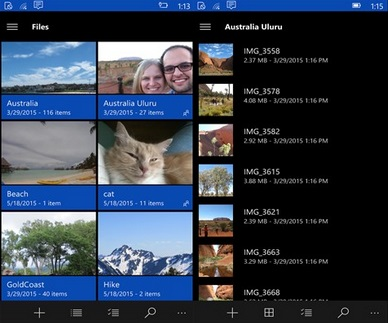 OneDrive Windows 10 Mobile