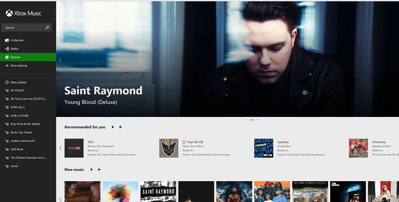 Xbox Music web