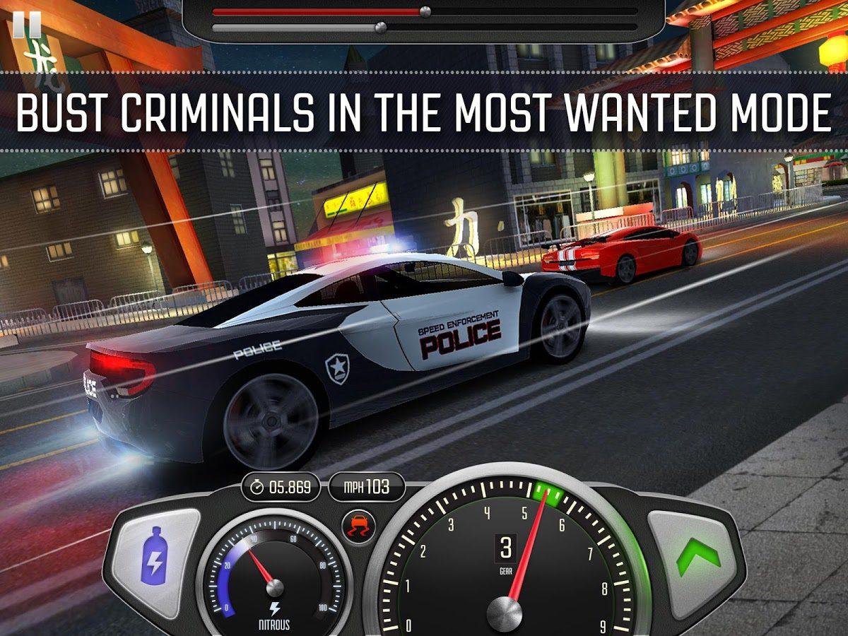 drag racing game top speed