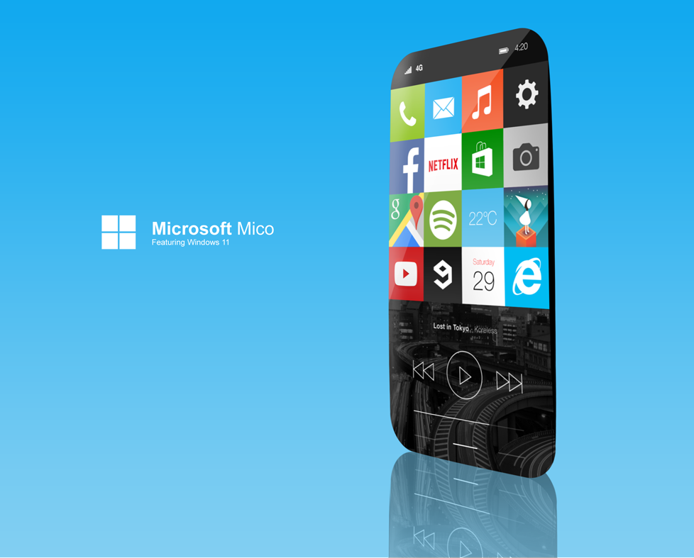 Microsoft Mico See The First Windows 11 Mobile Concept