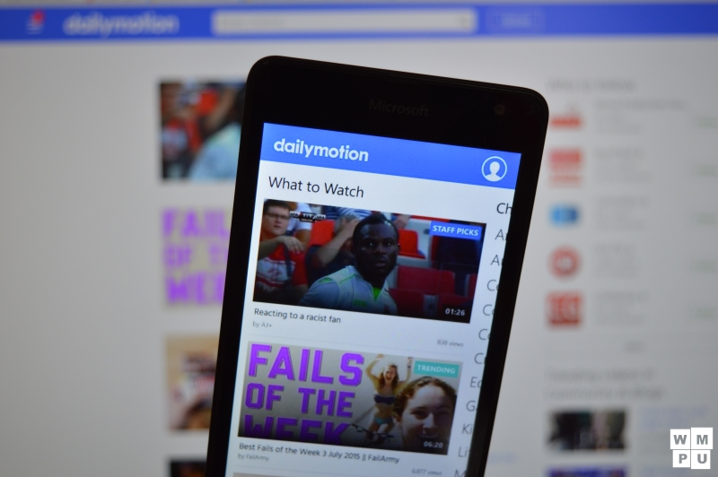 DailyMotion app for Windows Phone gets a much needed bug