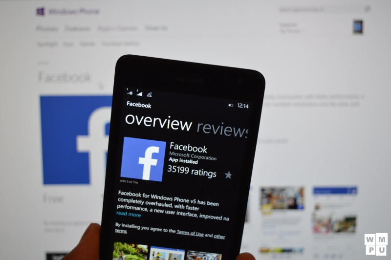 Facebook's apps for Windows Phone 8.1 users stop working 1