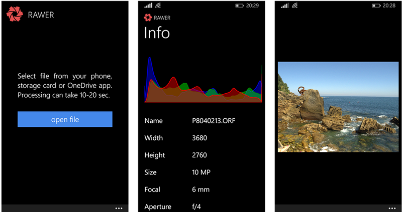 Deal Alert: Rawer raw image file editor for Windows Phone 50% off 3
