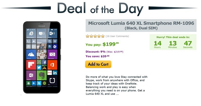 Deal Alert: Grab the Lumia 640 XL SIM-free and unlocked for only $199.99 14