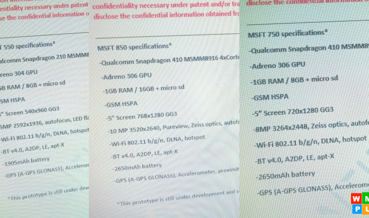 Exclusive: Leaked specs for the Microsoft Lumia 850, 750 and 550 (Updated) 7