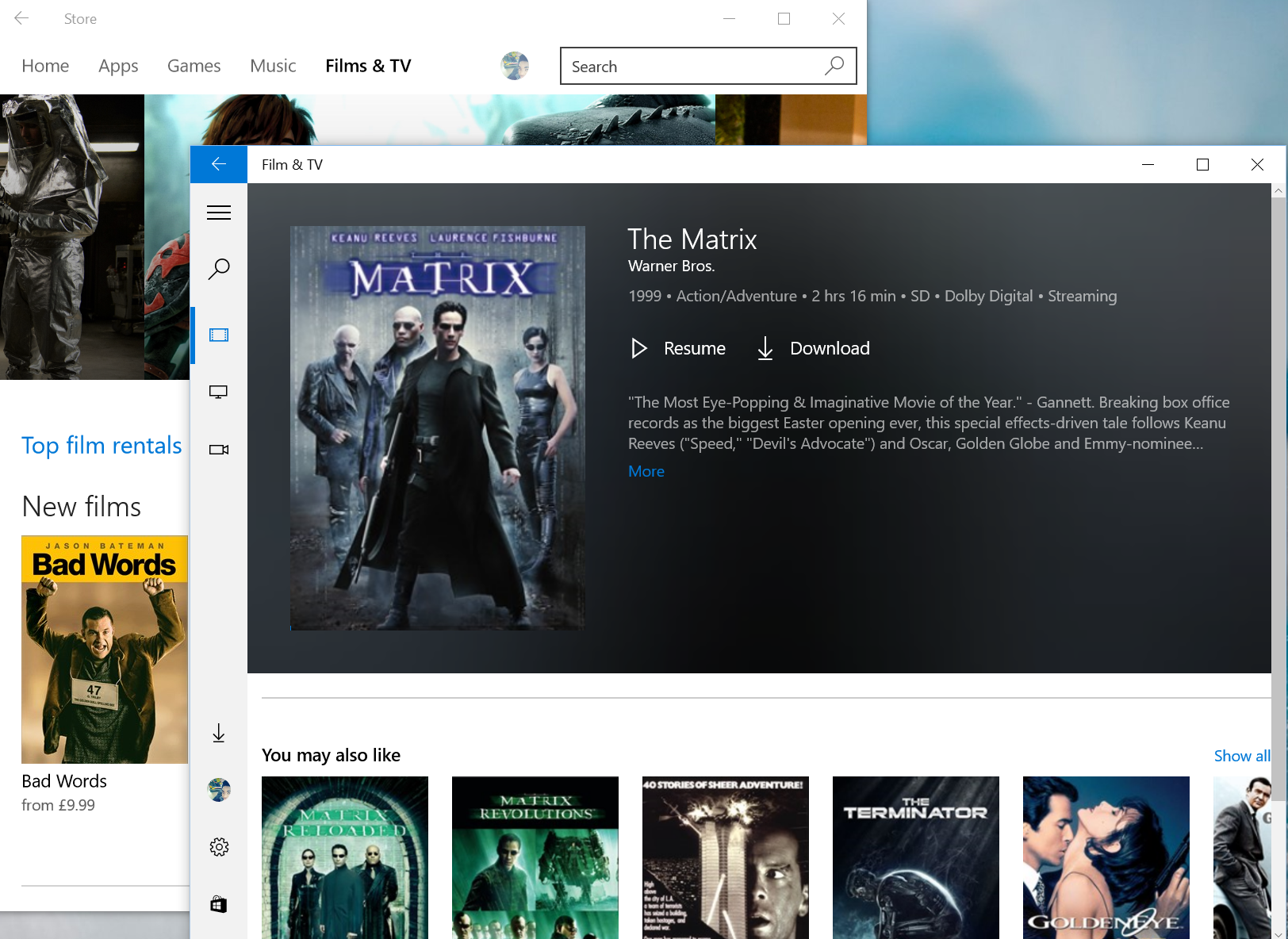 Microsofts Movies And Tv App Will Now Play Your Next