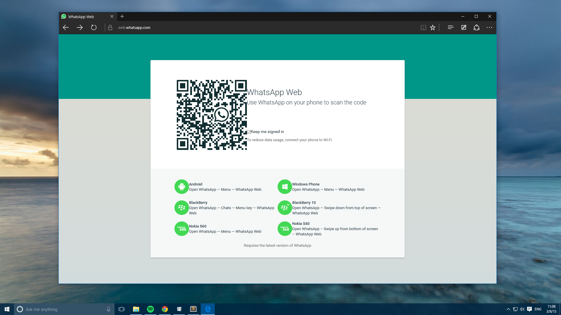 WhatsApp Web already works on Edge - here's how to enable ...