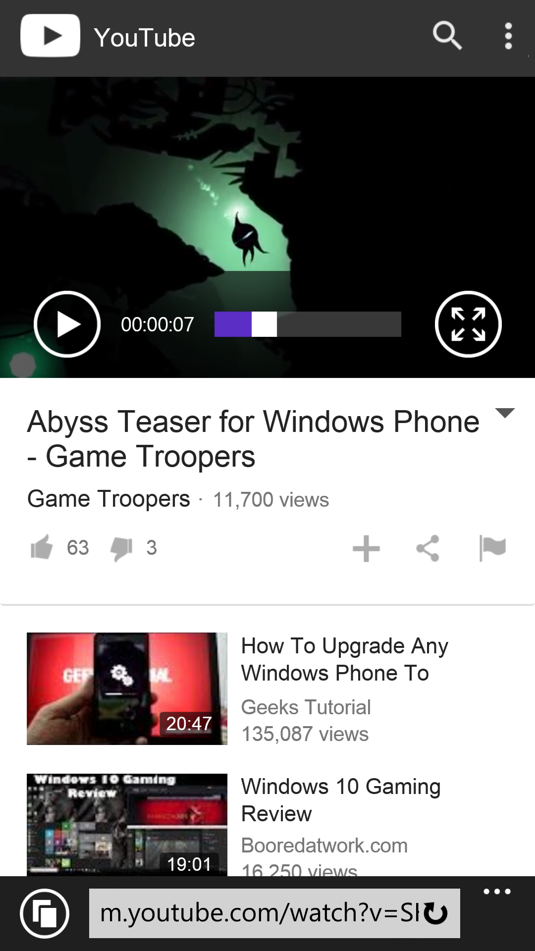 Youtubes updated mobile site works very well on windows phone gallery youtube mobile screen shots ccuart Image collections