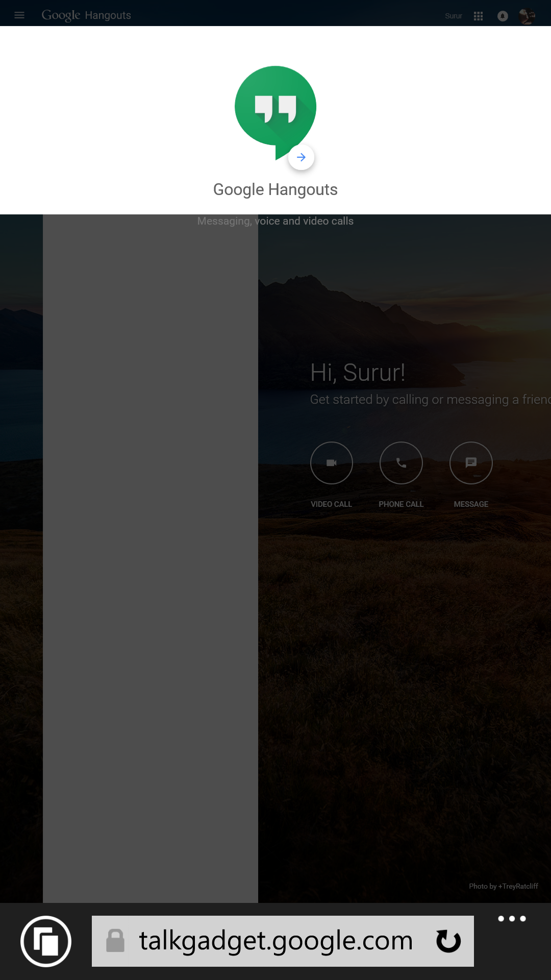 Google hangouts client for windows phone 8 - If you are desperate google hang outs web app works on windows phone for now