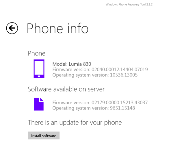Lumia Denim now available for the AT&T Lumia 830 via the Windows Phone Recovery Tool! Grab it while its hot! 1