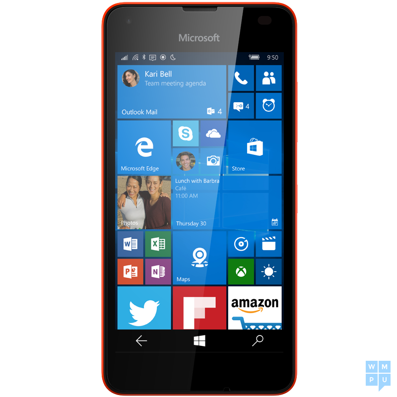 Lumia 550 Bright Red