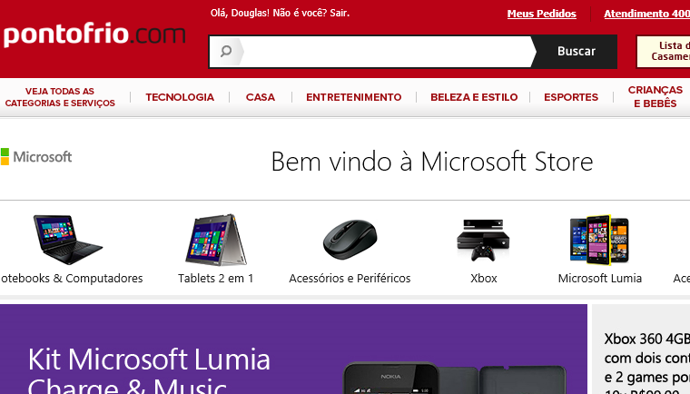 Microsoft partners with major third-party online retailers to sell its products in Brazil 13