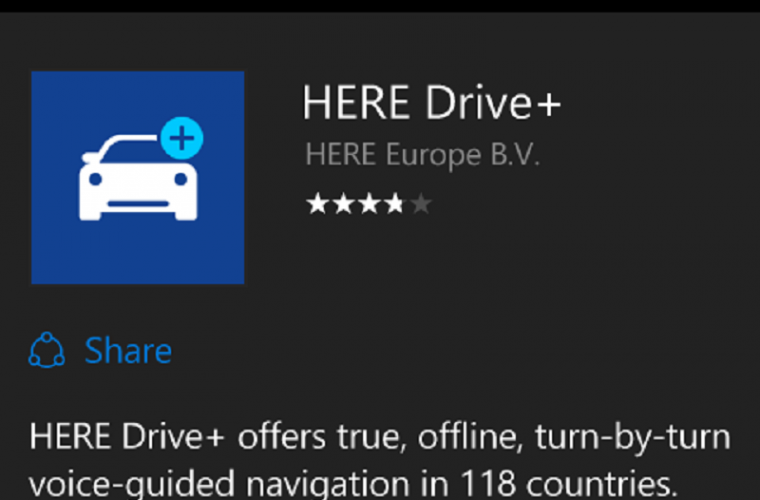 Hack: How to install HERE Drive+ on your Windows 10 Mobile handset 5