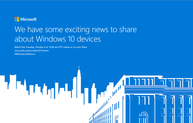 Microsoft To Launch New Windows 10 Devices On Oct 6th 13