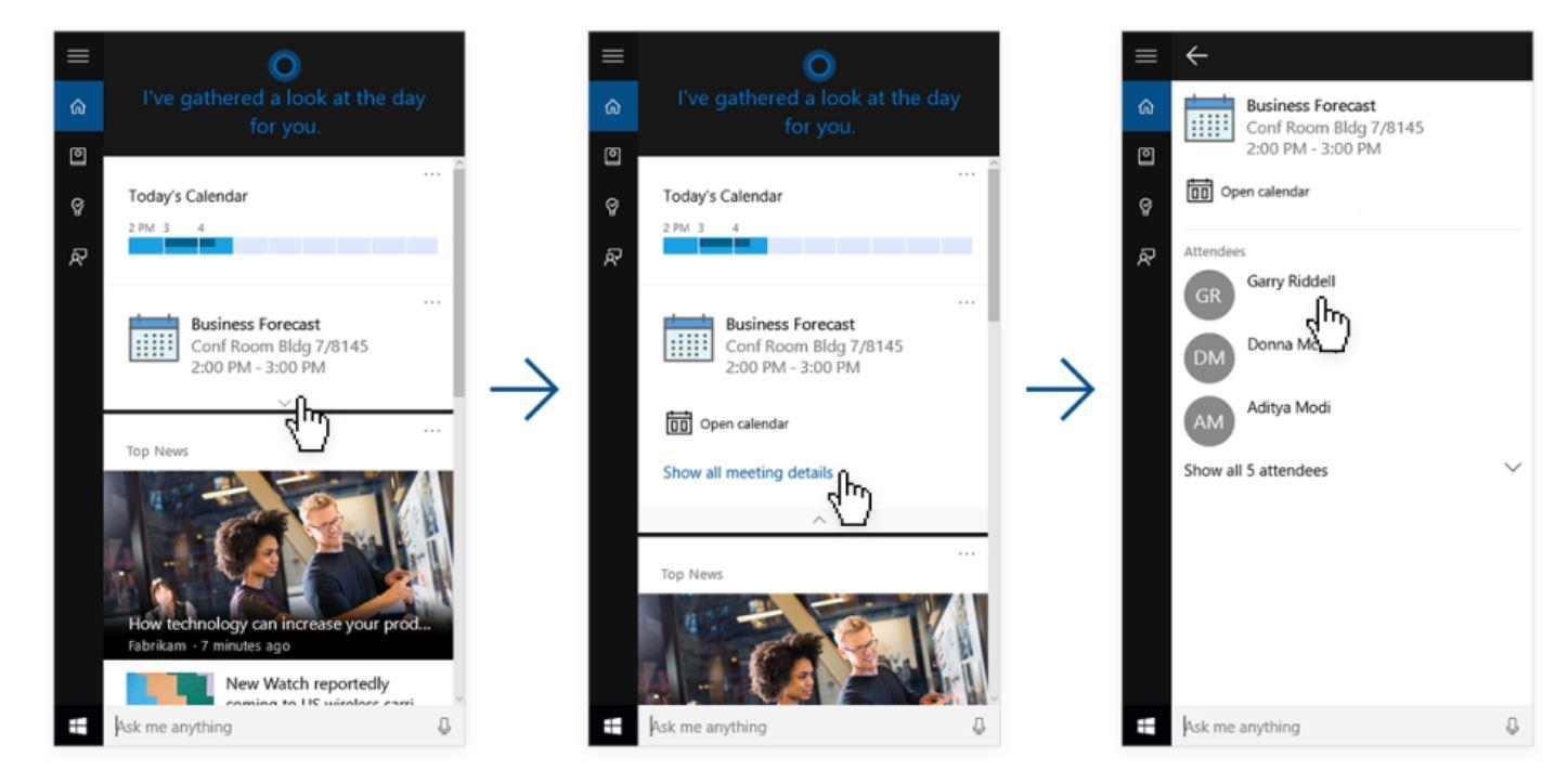 Cortana LinkedIn