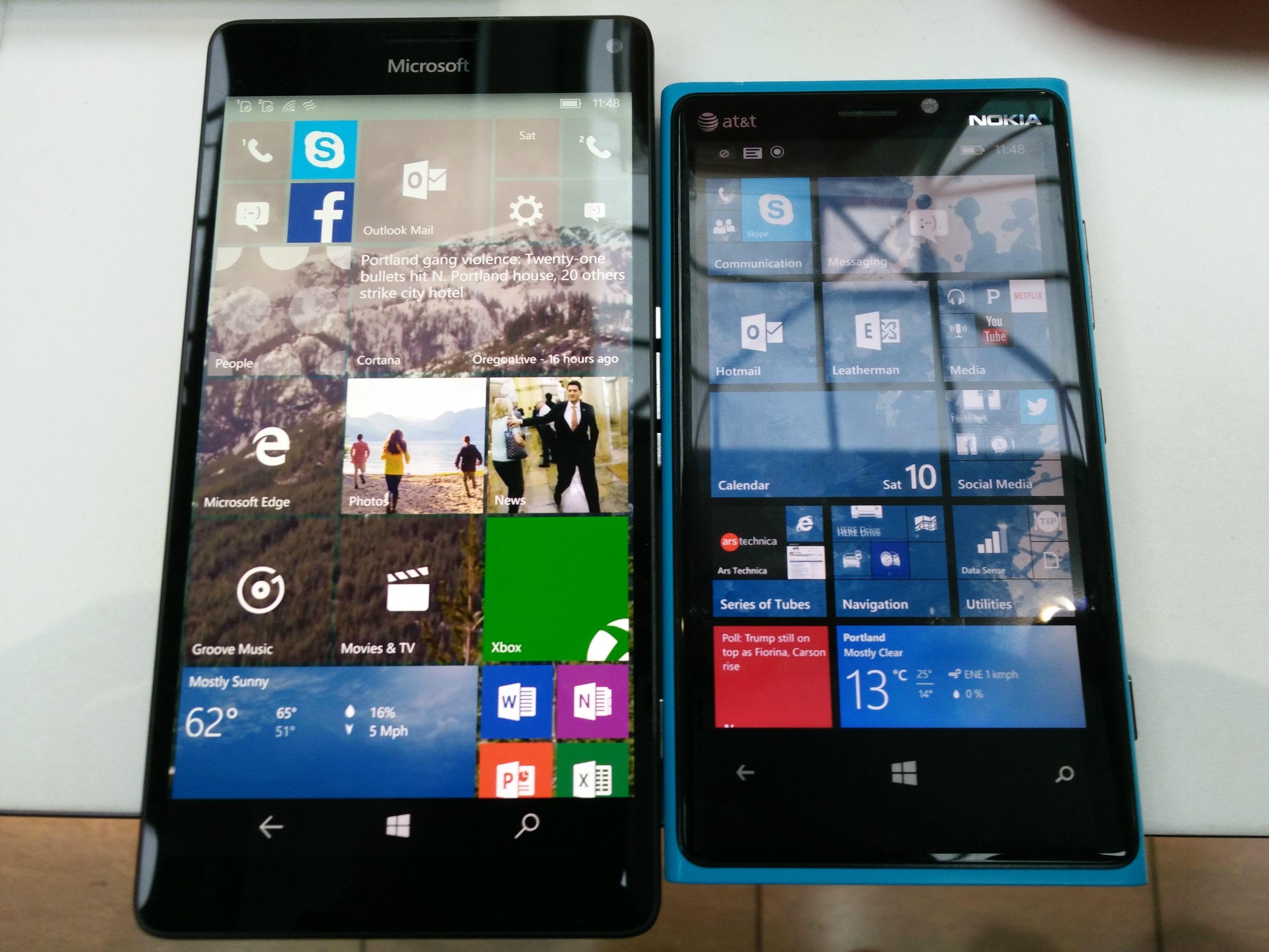 Lumia 920 Vs 950 Xl Front Mspoweruser Touchscreen Nokia