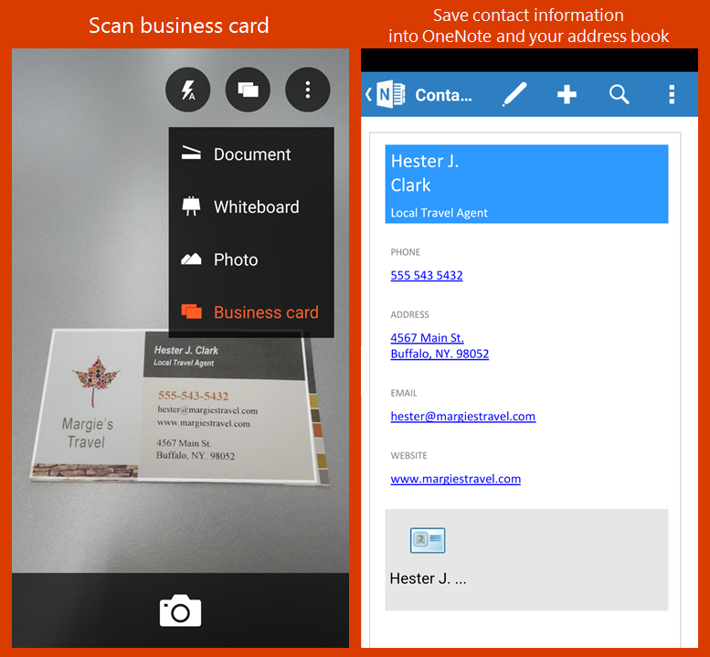 Office Lens app now lets you save a scanned business card as a ...
