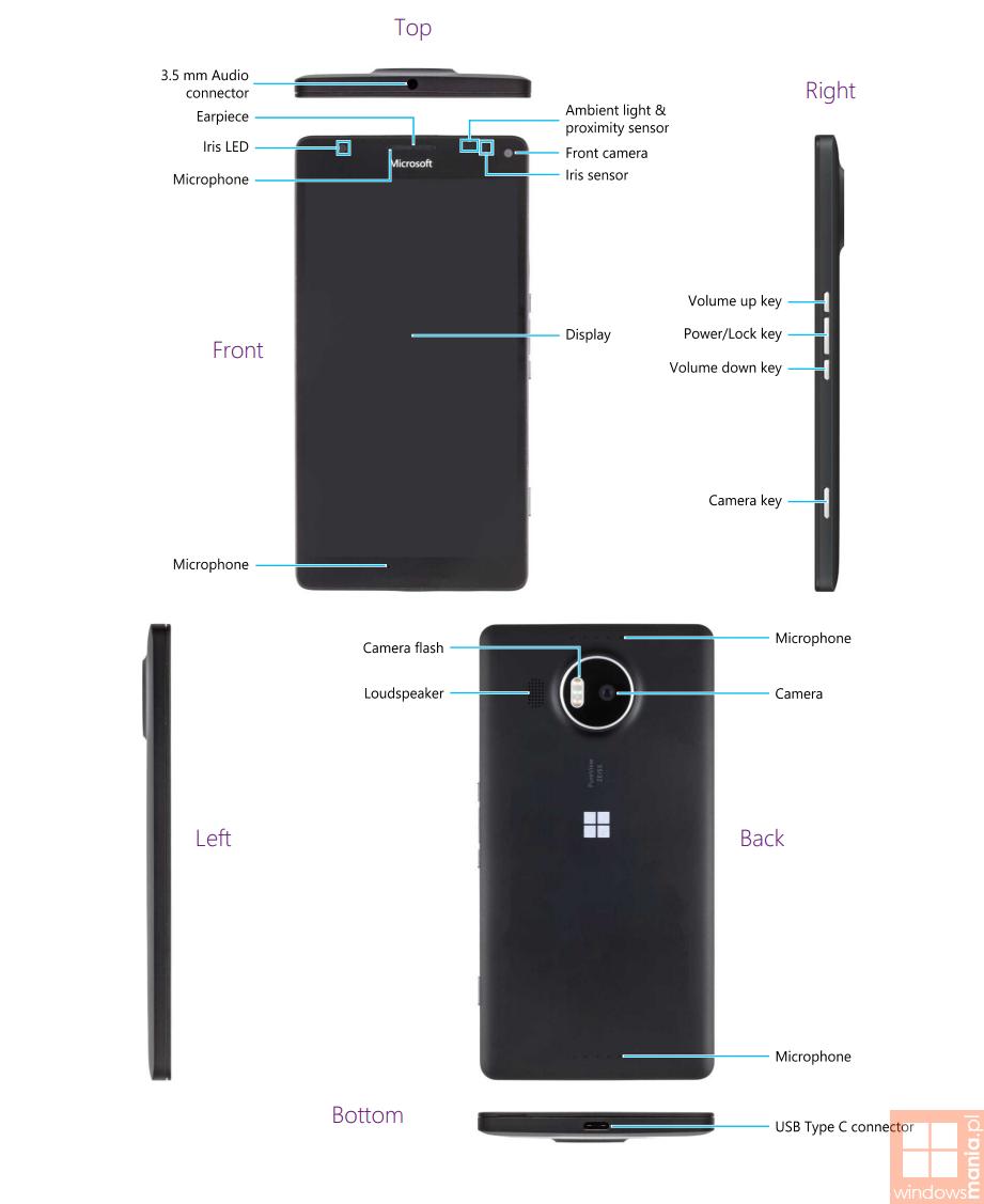 lumia 950 xl sensors