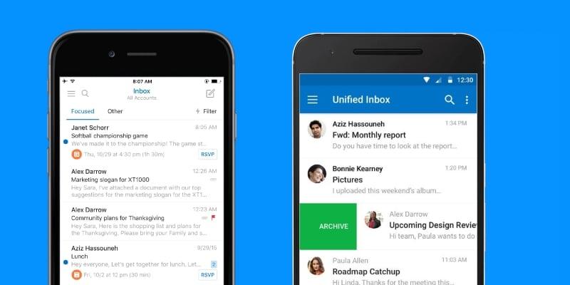 Resultado de imagem para Outlook APP android