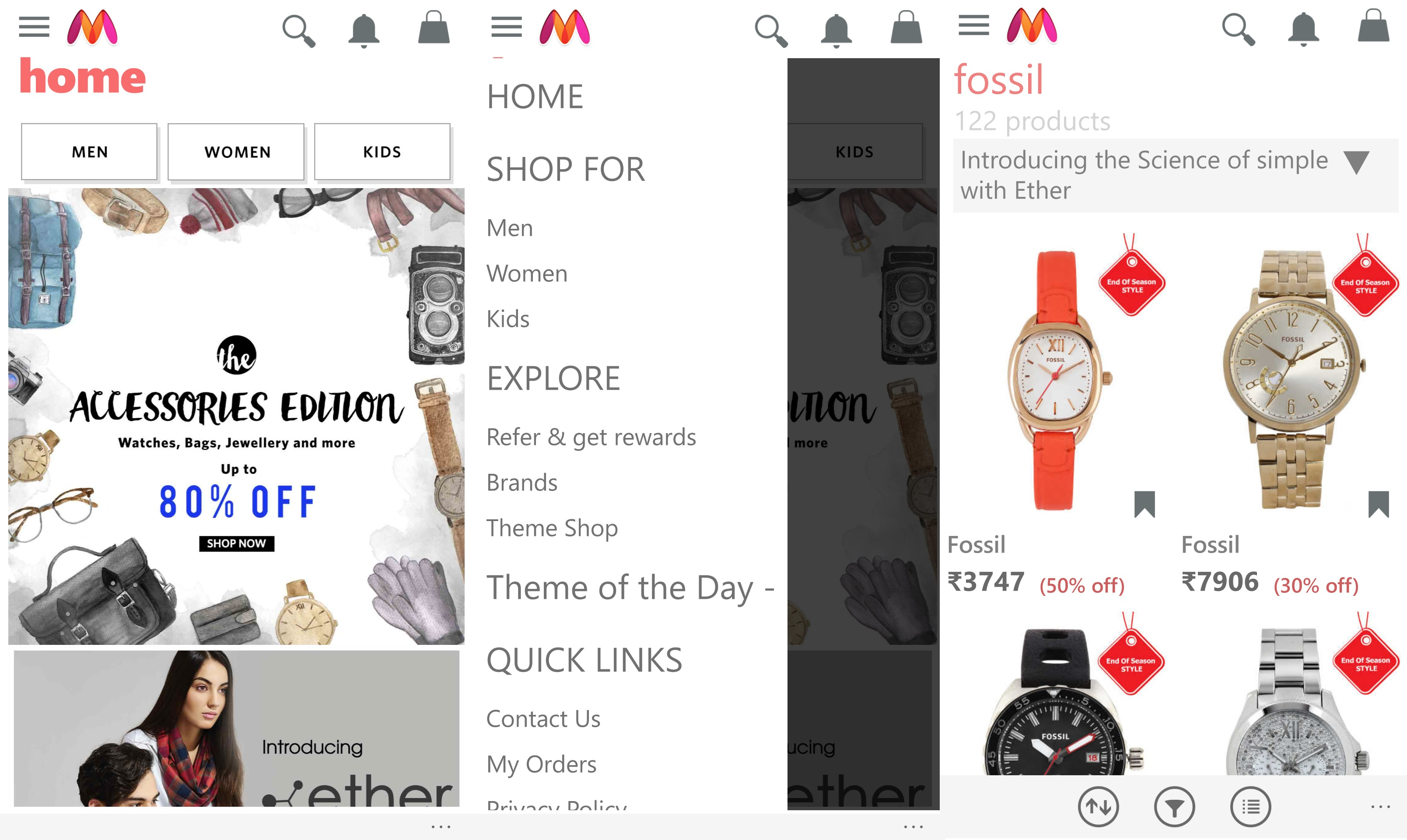 Myntra Windows App