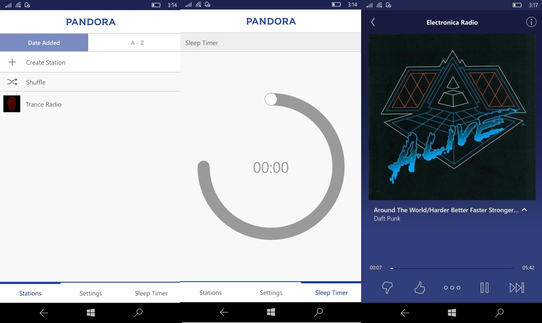 Pandora Windows 10