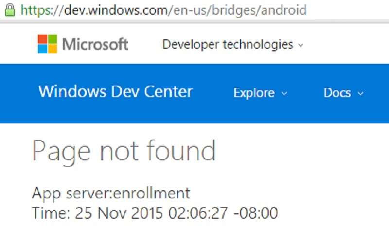 android bridge dead