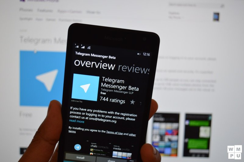 Telegram's Official Windows phone app updated with full