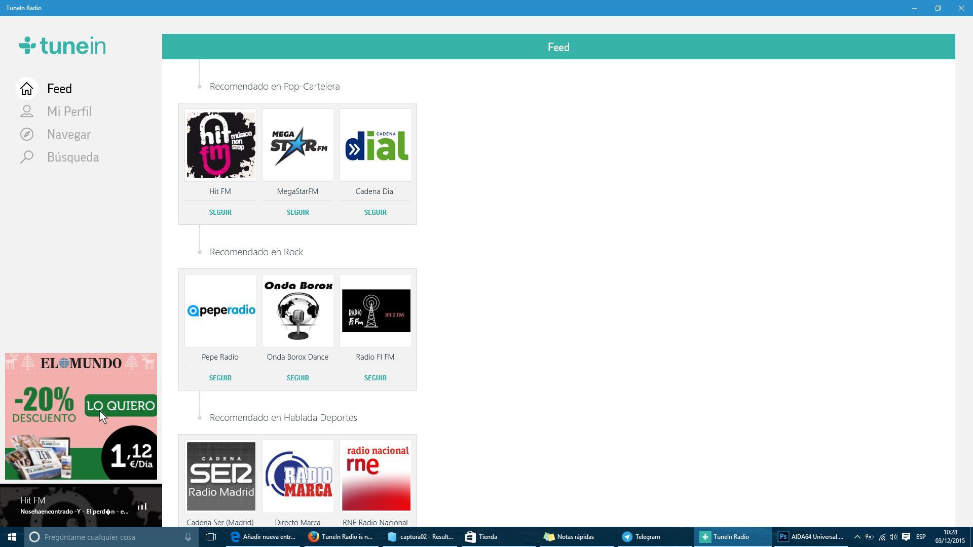 TuneIn Radio's new Universal Windows App now in the store