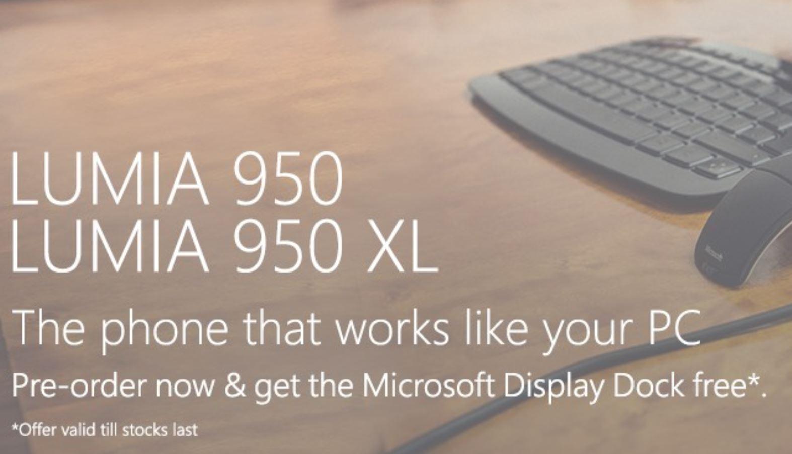 Lumia 950 and 950 XL Pre-order