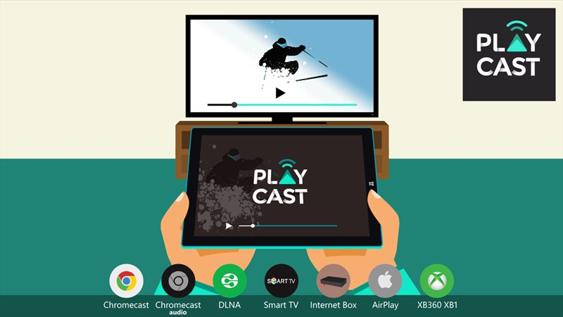 Playcast lets you stream local media to your Chromecast and