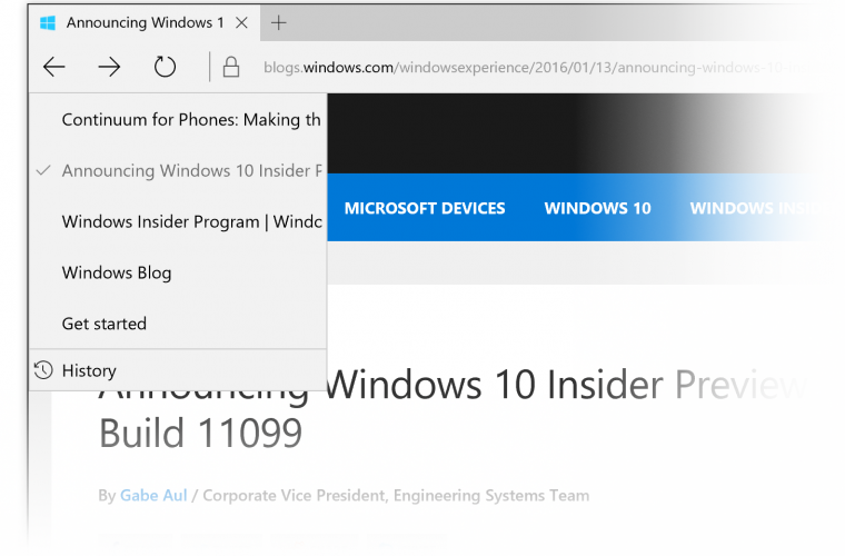 Microsoft Edge Build 11102