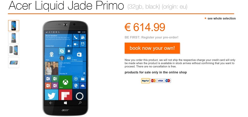 acer jade primo orange portugal