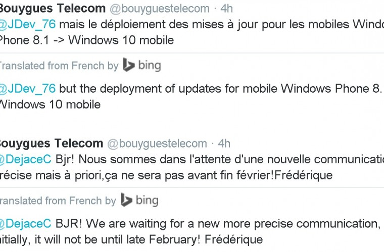 Windows 10 Mobile upgrade delayed to Late February says Bouygues Telecom 5