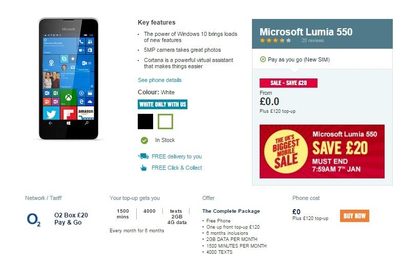 lumia 550 deal 2