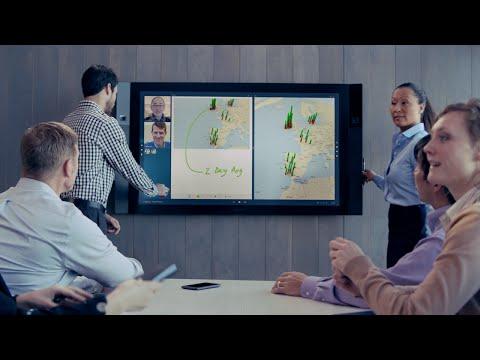 Watch The Video Demo Of Microsoft Surface Hub 10
