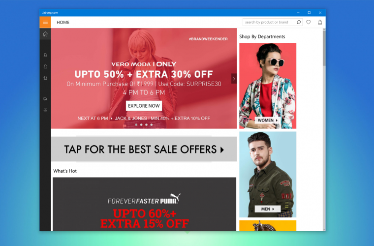 Jabong's Windows 10 app now available for Windows 10 Mobile 13