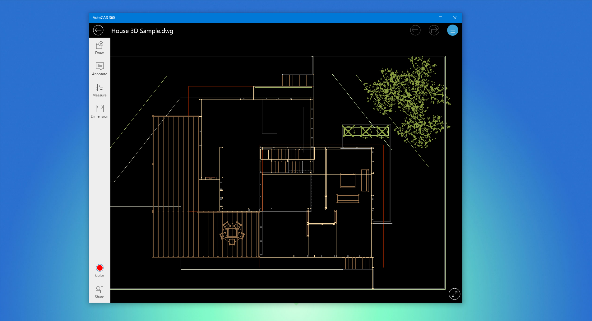 Autodesk releases new autocad 360 uwp app for windows 10 for Construction drawing apps
