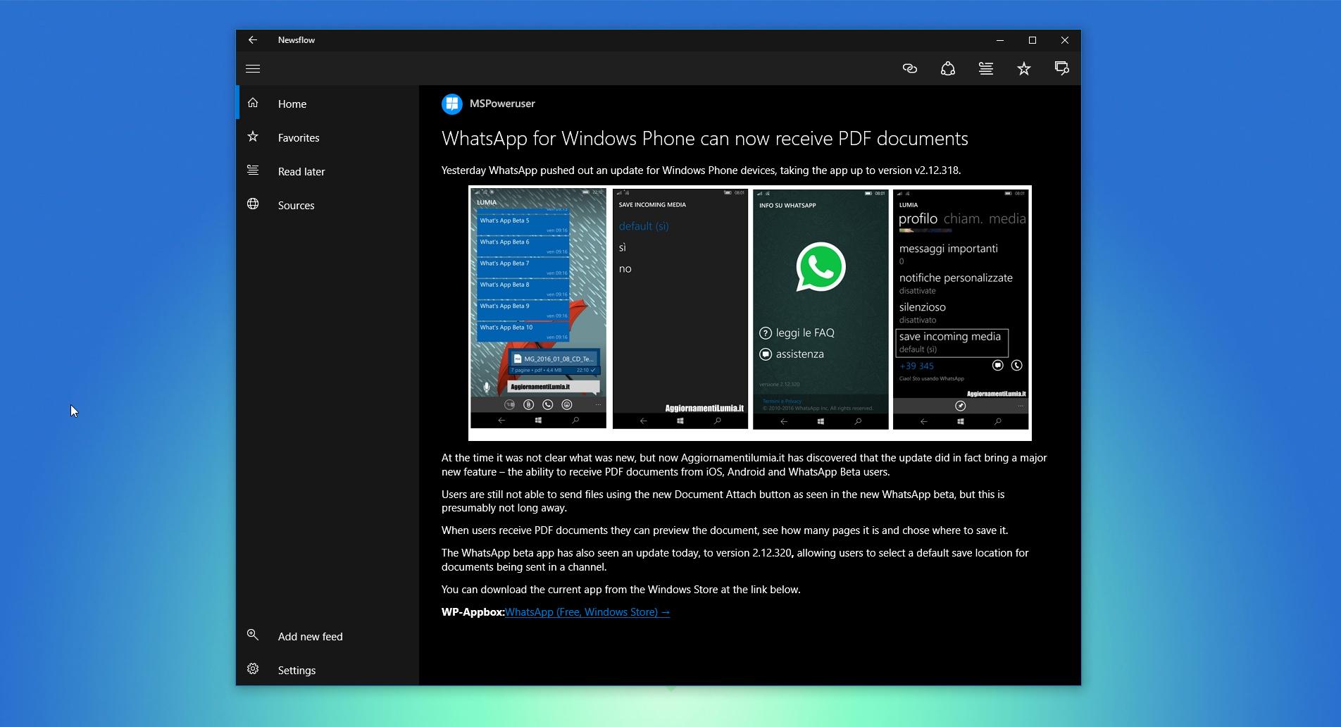 Newsflow is a beautiful RSS reader app for Windows 10 - MSPoweruser