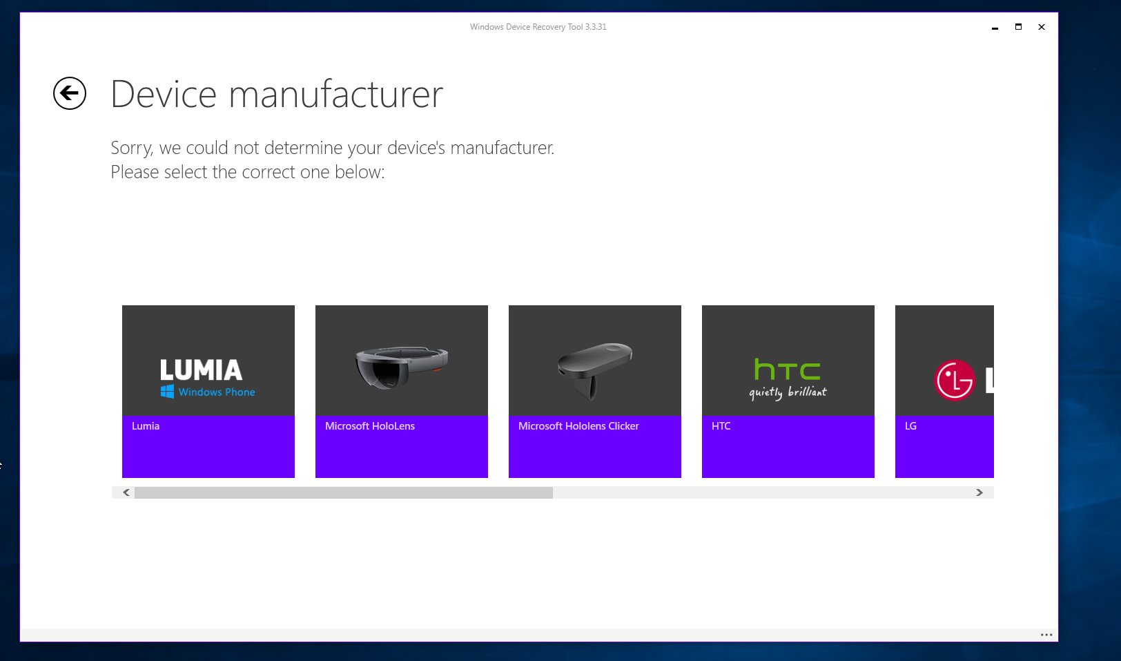 Windows Device Recovery Tool updated with support for HoloLens and