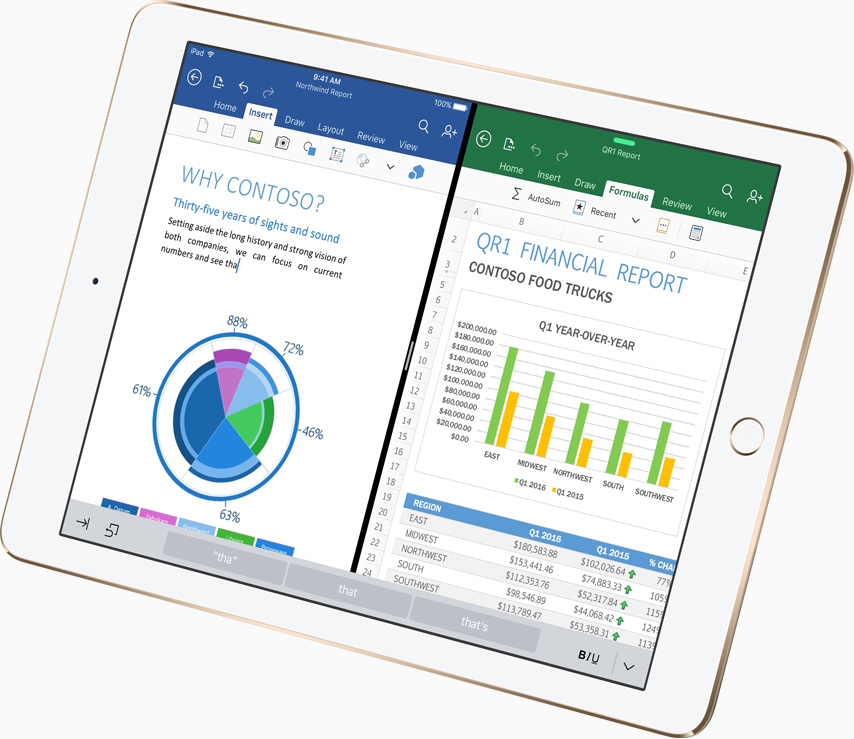 Apple iPad Pro Microsoft Office