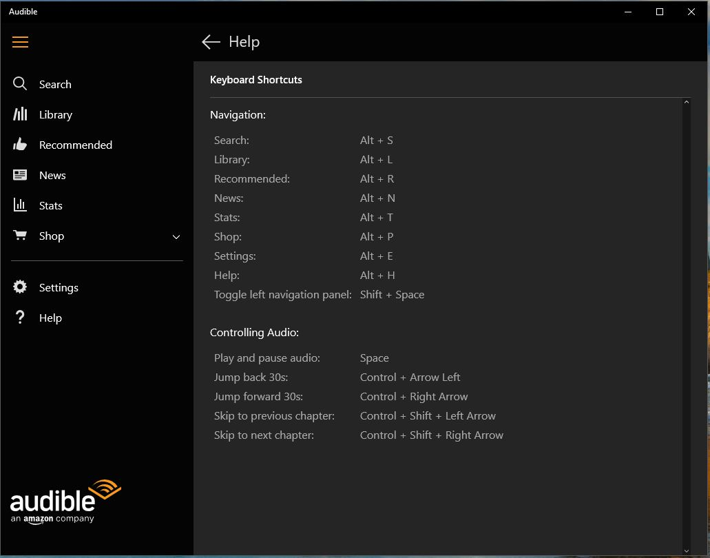 Audible Windows App