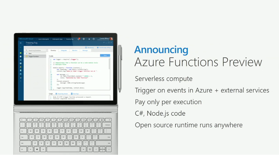 Azure Functions Preview