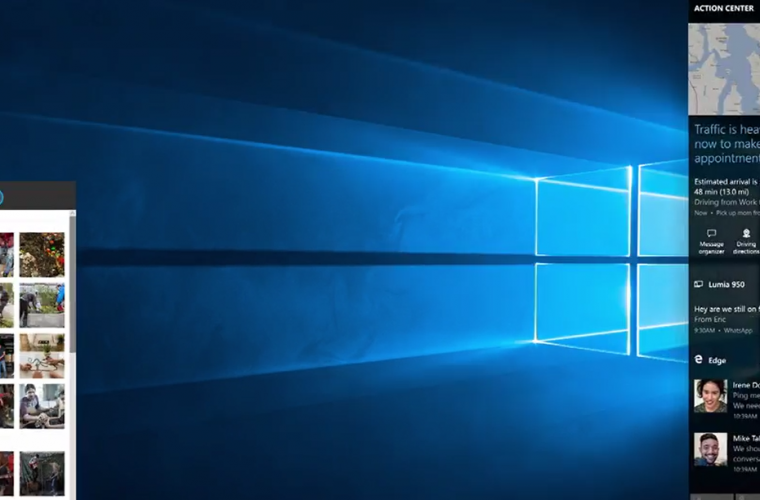 Build 2016: Microsoft video shows new cross device notifcatons for Windows 10, new Action Center UI 4