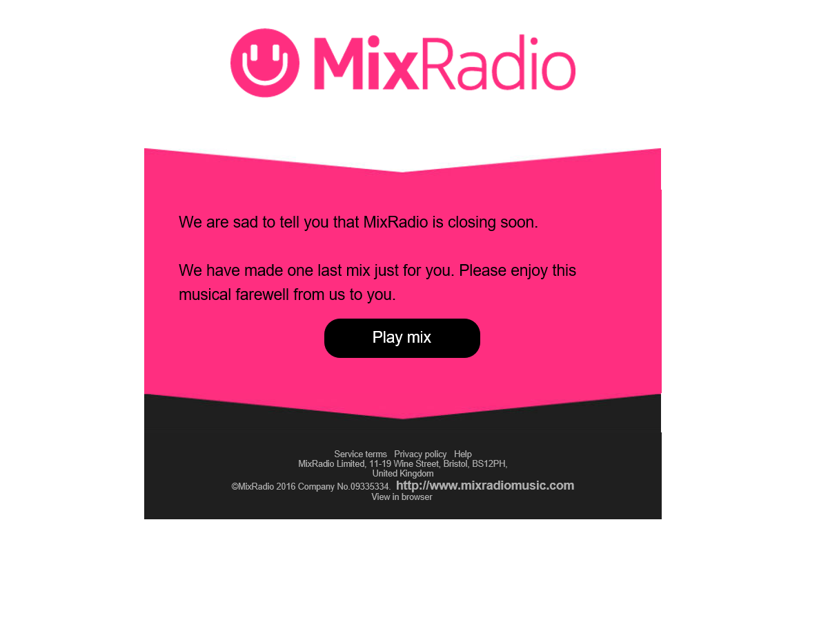Mixradio rip