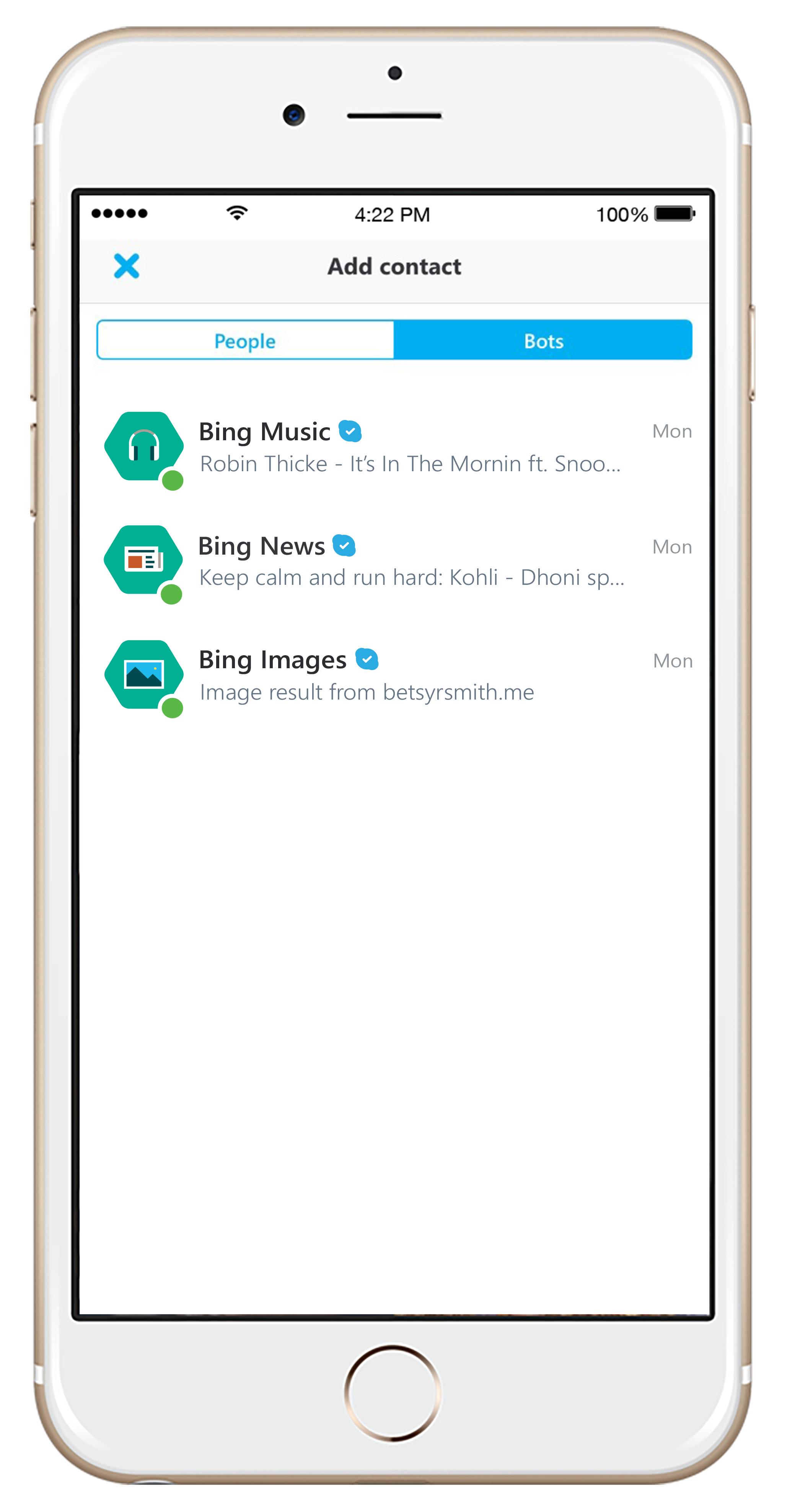 Skype Bot iOS